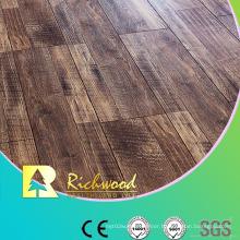 Commercial E0 HDF AC3 Embossed Oak V-Grooved Laminate Flooring
