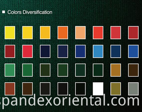 Spandex of different colors