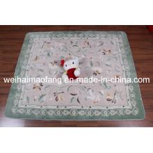 Luxury Shaggy Raschel Mink Polyester Prayer Carpet