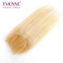 Farbe 613 gerades Haar brasilianische Spitze Schließung