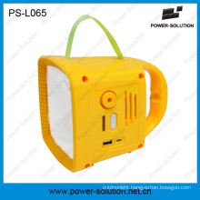 Outdoor Lighting Rechargeable Solar Camping Lantern with FM Radio PS-L065