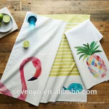 hight Qualität Flamingo Ananas Küche Geschirrtuch TT-010