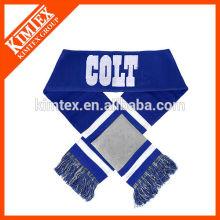 Sport acrylic customized fan scarf