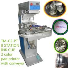 TM-C2-P dos colores tinta Copa impresora del cojín con el transportador