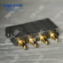 Conector de clavija Pogo con muelle (4 pines, conector de batería)