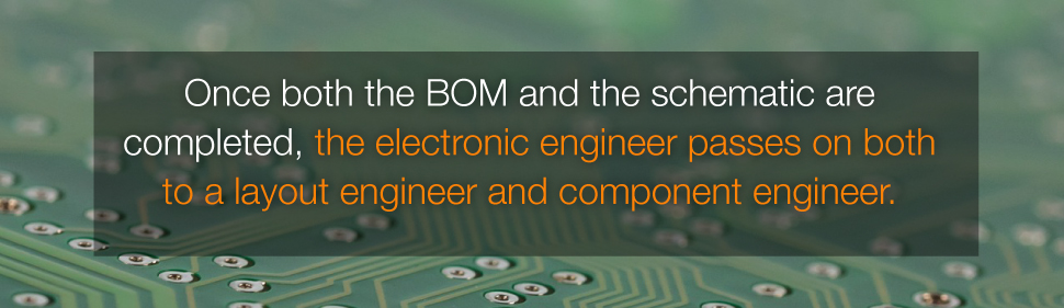 Once BOM and schematic are completed, PCB Layout Engineer and Component Engineer Will Continue The Design Work