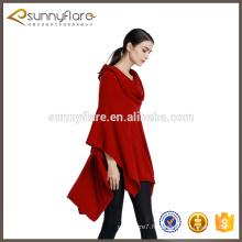 mode vente chaude hiver manteau de poncho de cape de cachemire d'hiver pour la dame