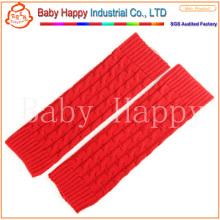 Réchauffeur de jambières en crochet pour bébé à gros style rouge en gros