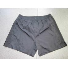 Yj-3017 Mens Black Polyester und Strick Gym Athletic Shorts Hosen