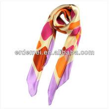 Модный квадратный печатный шелковый шарф
