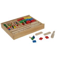 Wooden Construction Set Spielzeug in einer Box
