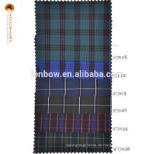 Grüner Tartan Plaid Baumwoll Nylon Stoff für Hemden
