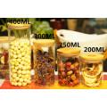 400мл Бамбуковая крышка Боросиликатное стекло для хранения продуктов Jar