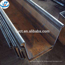 China laminadas a quente fabricante SY295 400x100 pilha de chapas de aço U tipo