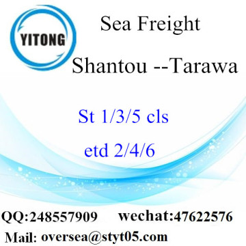 Shantou Port LCL Consolidation To Tarawa