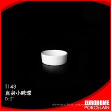 ronda diseño cena fija cerámica pequeño plato de porcelana japonesa
