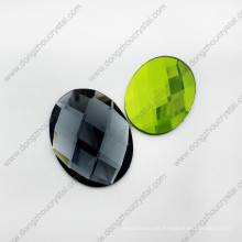Perlas de vidrio ovaladas flojas de la máquina del corte de la máquina del diamante artificial de China barato