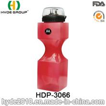 750ml BPA Popular gratuito PE plástico beber a garrafa de água de esporte (HDP-3066)