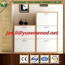 Melamine MDF or Painted MDF Shoe Cabinet with 3 Doors
