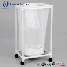 Cesta de lavanderia móvel único saco