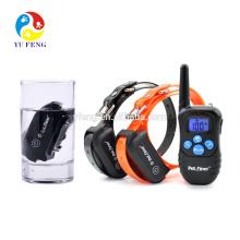 Étanche collier de dressage de chien électrique 300M gamme de choc rechargeable + Vibra + dresseur de collier de chien électrique écran de rétroéclairage bleu