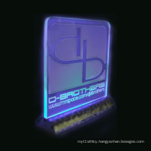 LED Lighted Acrylic Display Sign Holder, Sign Display