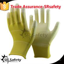 SRSAFETY 13gauge покрытый PU на пальмовых рабочих перчатках.