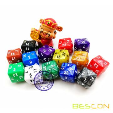 Multi-Colored Polyhedral Dice 24-sided Gaming Dice, D24 Die, D24 Dice, 24 Sides Dice