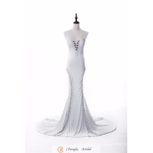 Elegant Formal Evening Dress Straps Crystal Beads Mermaid Suppliers 2017