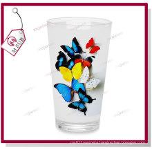 16oz Sublimation Pint Glass Mug White Patch