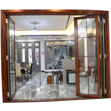 Standards Sound Insulation Double Tempered Glass Accordion Folding Doors
