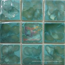 Green Color Swimming Pool Fambe Ceramic Hand Make Mosaic (CST257)