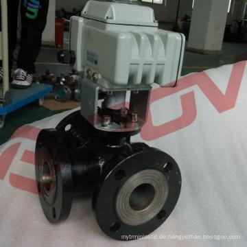 Kohlenstoffstahl-Flansch elektrisches Wasser-Umlenkventil