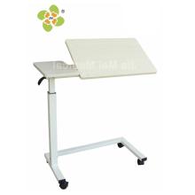 Adjustable patient bedside table