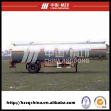 Caminhão de tanque brandnew do aço carbono Q345liquid (HZZ9140GYY) com elevado desempenho para compradores