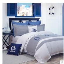 Canain 5 звездочный отель Атлас кровати постельное белье 100% хлопок белый