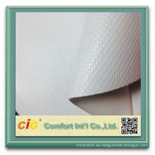 recubierto de PVC lona tela/malla lona/pvc transparente encerado del pvc para el carro de la tienda de barco