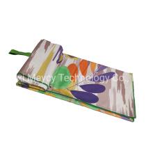 Fashion Luxury OEM Logo Private Design Beach Yoga Mat Towel, 200GSM Microfiber Fabric Travel Outdoor Sports Fitness Towel