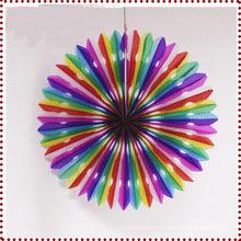 Ventilador de papel de recuerdos de la boda como decoración de la boda para suministros de eventos y fiestas