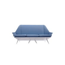 Loveseat डिजाइन लिनन सोफे लाउंज चेस्टरफ़ील्ड सोफा