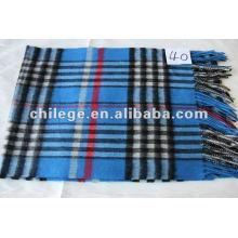 écharpes à carreaux mélangés laine / cachemire pour hommes