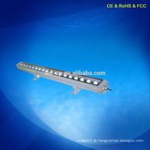 CE RoHS Alto moderno brilhante 18w rgb LED parede arruela ip65 dmx512 controle LED Wall Washer