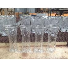 Middle Size Fancy Shape Glass Vase for Flower