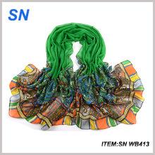 Boa qualidade Buquê de moda Cheap Shawl de seda