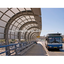 6mm pc hollow sheet for bus station shelter