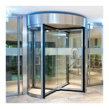 Deper 4-wing commercial entrance automatic glass door revolving door for HOTEL