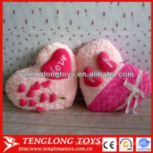 delicate wedding gifts pink plush heart shaped pillow