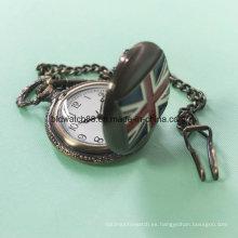 La mejor cadena de reloj de bolsillo de aleación con movimiento de Japón de la bandera