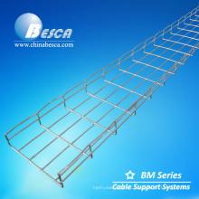 Especificaciones de la bandeja de cable de malla de alambre SS316L 200x50x3000 mm