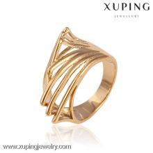 11584-China Xuping moda elegante para mujer con 18k anillos de bodas chapados en oro